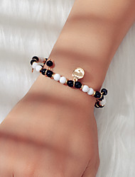 cheap -Women's Black Bead Bracelet Beads Fashion Ethnic Acrylic Bracelet Jewelry Black For Date Festival