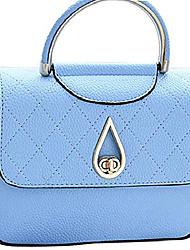 cheap -women's small leather handbag tote shoulder crossbody bag blue