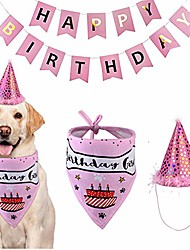 cheap -dog birthday decorations kit dog birthday bandana pet scarfs dog birthday party cone hat cute doggie birthday banners great dog birthday outfit and decoration set for dog puppy