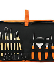 cheap -Halloween Pumpkin Carving Kit 12pcs High Quality Stainless Steel Durable Fruit Vegetable Carving Tools with Tool Kit