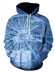 رخيصةأون -رجالي مناسب للبس اليومي البلوز هوديي البلوز 3D الرسم أساسي هوديس بلوزات أزرق