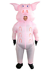 cheap -Animal Masquerade Waterproof  Costume Kid's Adults' Men's Funny & Reluctant Halloween Party Performance Carnival New Year Masquerade Festival / Holiday Polyester Pink Men's Women's Easy Carnival