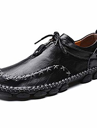 cheap -men's driving walking causal loafers leather handmade classic outdoor anti slip flats comfortable shoes black 7 m us 39