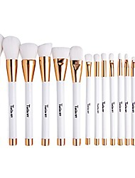 cheap -make up brushes, make up brush set professional foundation cosmetic kits,15 pieces,white
