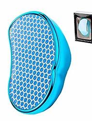 cheap -foot file pedicure rasp, gentle dead skin callus remover for feet, nano glass heels exfoliator(blue)