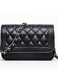 cheap -Women's Bags PU Leather Crossbody Bag Chain Daily Chain Bag MessengerBag White Black