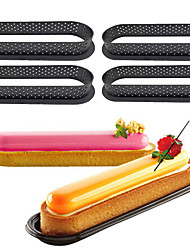 cheap -Plastic Oval Shape Cake Mold Mousse Cake Ring 4 Pcs Elair de Genie