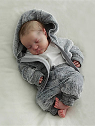 cheap -20 inch Reborn Doll Baby & Toddler Toy Reborn Baby Doll Levi Newborn lifelike Hand Made Simulation Floppy Head Cloth Silicone Vinyl with Clothes and Accessories for Girls' Birthday and Festival Gifts