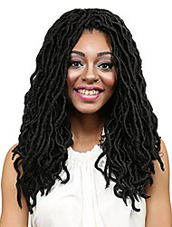 cheap -Human Hair Lace Wig Curly Synthetic Hair 22 inch Hair Extension Clip In Green 1 pc Easy to Carry Women Easy dressing Women's Daily Wear Date Street
