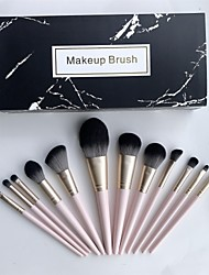 cheap -Makeup Brush Set 12Pcs Cosmetic Eyebrow Eyeshadow Brush Makeup Brush Sets Cosmetic Tools Kits