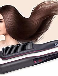 cheap -pro hair straightener curler multifunction ionic hair straightening brush ceramic heating straightening irons brush anti scald static detangling hot-air electric hair brush fast heating