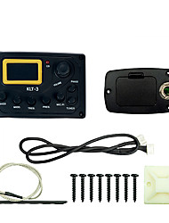 cheap -NAOMI Acoustic Guitar Bass EQ Preamp KLT-3  4 Band LCD Display With Micphone Tuner Guitar Pickup