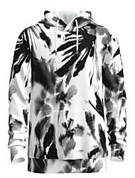 رخيصةأون -رجالي مناسب للبس اليومي البلوز هوديي البلوز الرسم استايل صيني كاجوال أناقة الشارع هوديس بلوزات أبيض