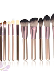 cheap -12 Pcs small grape makeup brush set animal hair beginner full set of beauty tools makeup brush set