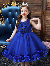 cheap -Princess Dress Girls' Movie Cosplay Vacation Dress Halloween New Year's White Dusty Rose Blue Dress New Year Masquerade Polyester / Cotton Polyester