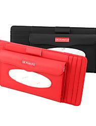 cheap -DeRanFu Genuine Leather Car Visor Tissue Holder with CD Holder Multi-Functional CD Organizer Visor Tissue Box Bag Card Slot for Car & Truck