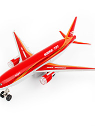 cheap -Boeing 777 Air Plane Model Aircraft Toys Cartoon Music & Light Pull Back Vehicles Plastic Alloy Kid's Adults All Toy Gift