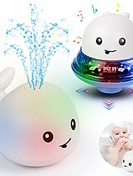 cheap -baby bath toys,light up bathtub toys 2 in 1 whale spray water squirt toy for infant automatic induction sprinkler bath toy bathtub toys for toddlers musical fountain toy ideal gifts for baby