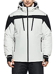cheap -men's ski jacket hiking waterproof outdoors windproof snow active hooded coat, multipocket(ykj63) - white, xxx-large