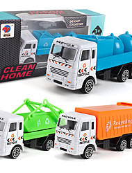 cheap -Construction Truck Toys Pull Back Car / Inertia Car Pull Back Vehicle Mini Cargo Truck Sanitation Truck Simulation Drop-resistant Plastic Mini Car Vehicles Toys for Party Favor or Kids Birthday Gift