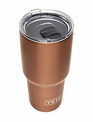 cheap -rambler 30 oz tumbler, stainless steel, vacuum insulated with magslider lid, copper