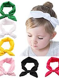 cheap -baby elastic hair hoops headbands and girl's fashion soft headbands (6 pack set 7)