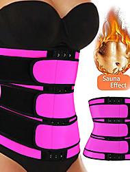 cheap -Body Shaper Sweat Waist Trimmer Sweat Waist Trainer Corset Sports Neoprene Yoga Gym Workout Pilates Adjustable Durable Weight Loss Tummy Fat Burner Hot Sweat For Women