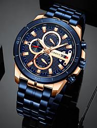 cheap -mens luxury watches business chronograph dress waterproof stainless steel analog quartz wrist watch (black)