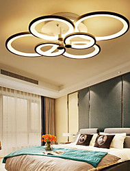 cheap -6-Light LED Ceiling Light Flush Mount Lights Circle Design Modern Style Simplicity Acrylic 90W Living Room Dining Room Bedroom Light Fixture