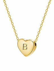 cheap -tiny heart initial necklace 18k real gold-plated letters b alphabet pendant necklace women jewelry