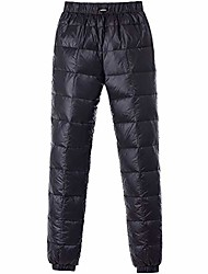 cheap -men's women winter warm utility down pants sassy high waisted nylon compression snow trousers (xx-large, black)