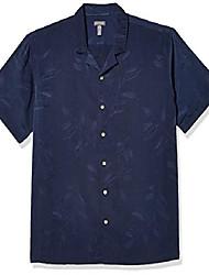 cheap -men's air tropical short sleeve button down poly rayon shirt, snow white, xx-large
