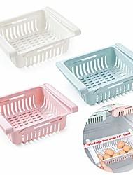 "cheap -retractable drawer type refrigerator storage box food fresh-keeping classified organizer container basket fridge shelf holder plastic storage bins, fit for fridge shelf under 0.5"" - 3 color"