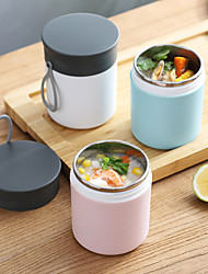 cheap -304 Stainless Steel Insulated Lunch Box 450ml Food Containers Kids Bento Box Large Capacity Vacuum Insulation Barrel