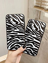 cheap -Case For Apple scene map iPhone 11 11 Pro 11 Pro Max black and white leopard pattern TPU material with straight edges fine holes shiny surface scratch-resistant phone case