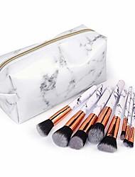 cheap -professional makeup brushes cosmetic bag set make up artist brushes multi functional cosmetic bag makeup handbag for travel & home gift & #40;marble makeup brushes, marble cosmetic bag&