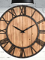 cheap -decorative modern large wall clock non ticking - wood (16 inches)