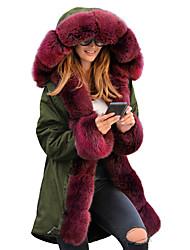 cheap -women thicken warm winter coat hooded parka overcoat long jacket outwear (xl, beige)