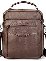 cheap -Men's Bags Cowhide Shoulder Messenger Bag Crossbody Bag Zipper Daily Holiday Black Brown