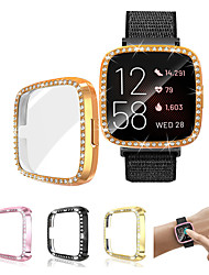 cheap -Fitbit versa 2 / versa Watch Case Cover Ultra-Slim Luxury Crystal Screen Protector Cover Protector