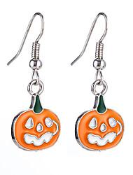 cheap -Men's Women's Hoop Earrings Hollow Out Letter Punk Earrings Jewelry Beige / White / White / Black For Halloween Carnival 2pcs