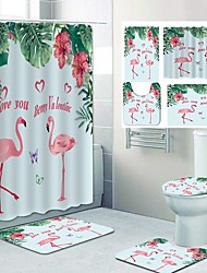 cheap -Fresh Pattern PrintingBathroom Shower Curtain Leisure Toilet Four-Piece Design