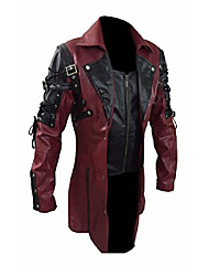 cheap -mens red goth matrix trench coat steampunk gothic of month (m)