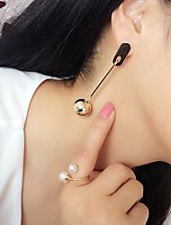 cheap -Women's Drop Earrings Hoop Earrings Dangle Earrings Geometrical Holiday Fashion Birthday Stylish Punk Trendy Korean Cool Earrings Jewelry Gold / Silver For Street Engagement Birthday Promise Festival