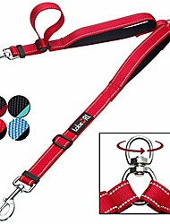 cheap -double dog leash coupler - 2 padded handles, adjustable from 18 to 24 inch - heavy duty dual dog leash for 2 dogs for medium large dogs