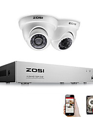 cheap -ZOSI 4 Channel FULL 1080P HD-TVI Recorder Case DVR Kit CCTV System with 2MP IR Filter Outdoor Nightvision 2pcs Dome Video Camera