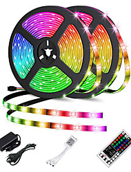 cheap -2x5M LED Light Strips Light Sets RGB Tiktok Lights 60pcsMeter 2835 SMD 8mm with 44Key IR Controller 12V 2A Desktop Power Supply Soft Light Strip Kit