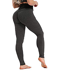cheap -women's high waist slim fit yoga pants scrunch booty leggings butt lift textured workout tights