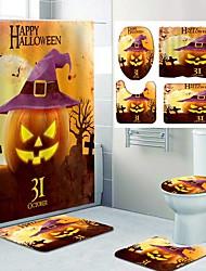 cheap -Halloween Pattern PrintingBathroom Shower Curtain Leisure Toilet Four-Piece Design