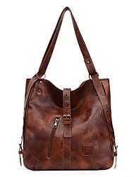 cheap -Women's Bags PU Leather Top Handle Bag Handbags Daily Outdoor Wine Black Khaki Brown